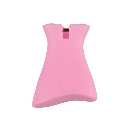 Брелок со сменными декоративными насадками в виде платьев и сумочки, розовый/белый/серебристый