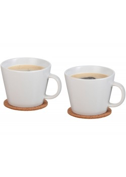 Набор чашек с костерами Hartley, белый