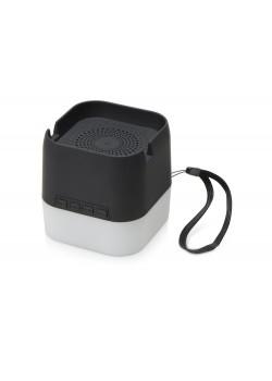 Портативная колонка с подсветкой Deco, soft touch, черный