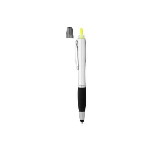 Ручка-стилус Nash с маркером, черный/серебристый