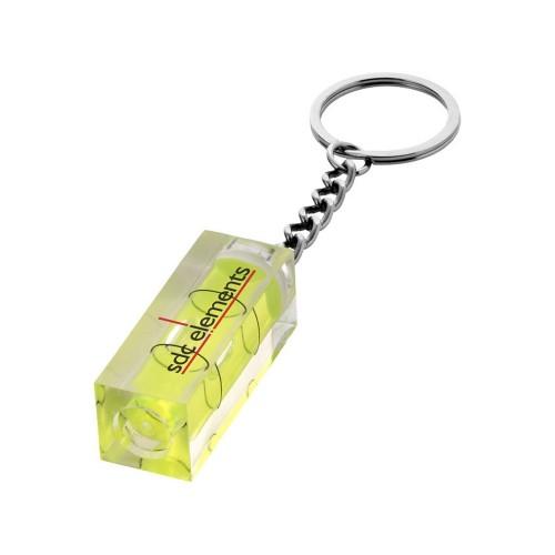 Брелок Leveler с уровнем, прозрачный желтый/серебристый