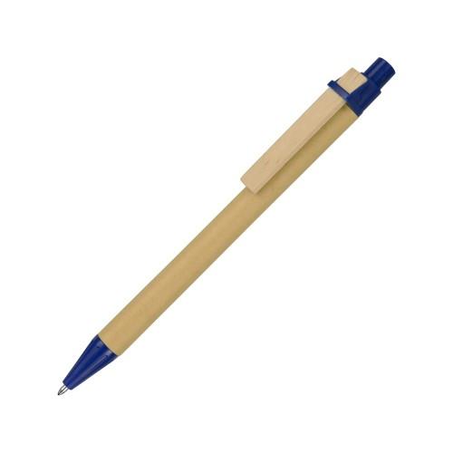 Ручка шариковая Salvador, натуральный/синий, синие чернила