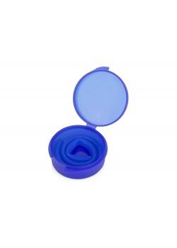 Силиконовая трубочка Fresh в пластиковом кейсе, синий