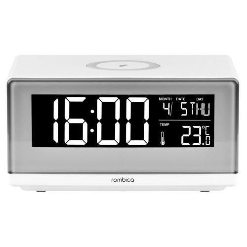 Часы с беспроводным зарядным устройством Rombica Timebox 2, белый