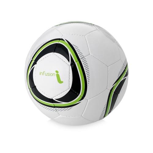 Мяч футбольный Hunter, размер 4, белый/зеленое яблоко