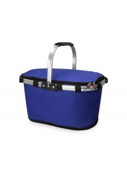 Изотермическая сумка-холодильник FROST складная с алюминиевой рамой, синий
