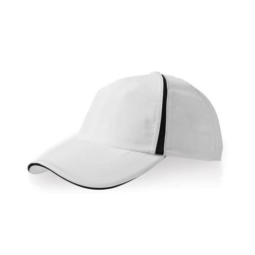 Бейсболка Momentum 6-ти панельная, белый/черный