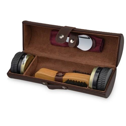 Набор для чистки обуви Сапфир, коричневый