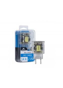 Сетевое зарядное устройство VA4123, прозрачный