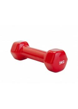 Гантель обрезиненная Hancock 2 кг, красный