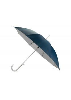 Зонт-трость полуавтомат Майорка, синий/серебристый