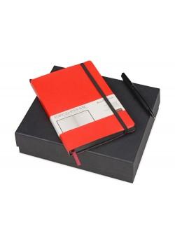 Подарочный набор Bruno Visconti Megapolis Soft: ежедневник А5 недат., ручка шарик., красный/черный