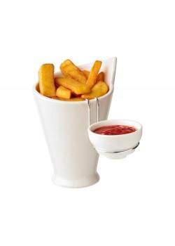 Блюдо для картофеля фри и соуса Chase, белый