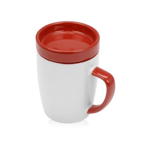Кружка с универсальной подставкой Мак-Кинни , белый/красный