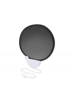 Складной вентилятор (веер) Breeze со шнурком, черный/белый