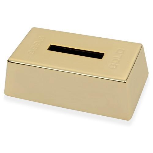 Копилка Слиток золота, золотистый