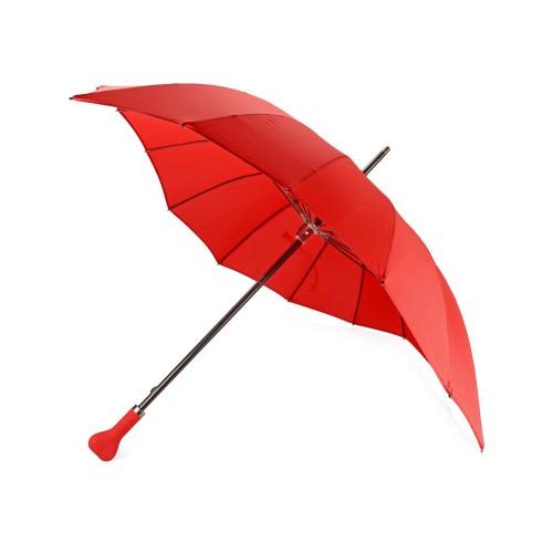 Зонт-трость I love you в форме сердца механический, красный
