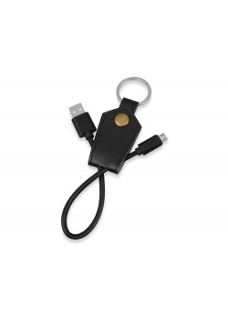 Кабель-брелок USB-MicroUSB Pelle, черный