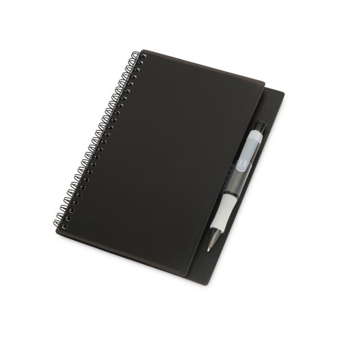 Блокнот А5 Hyatt с ручкой шариковой, черный