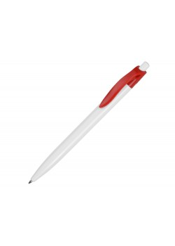 Ручка шариковая Какаду, белый/красный