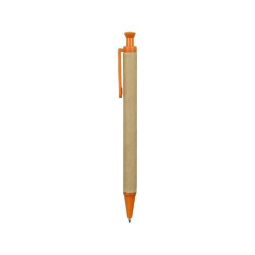 Ручка шариковая Эко, бежевый/оранжевый