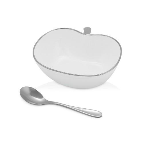 Чаша в форме яблока на 400 мл с металлической ложкой