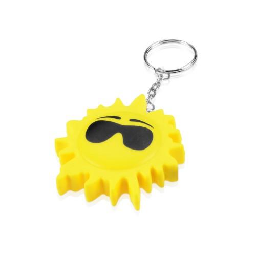 Брелок-рулетка Солнце, 1 м., желтый/черный