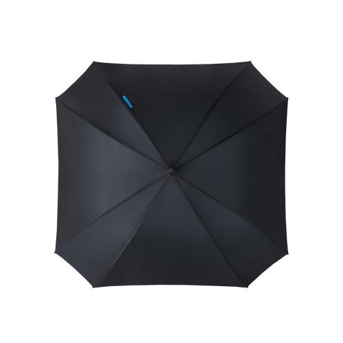 Зонт трость Square, полуавтомат 23, черный/синий