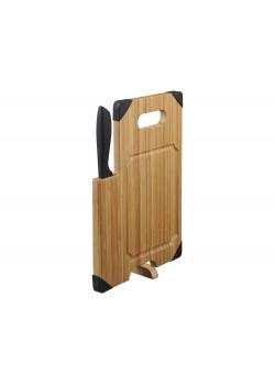 Разделочная доска с ножом Bamboo, коричневый/черный