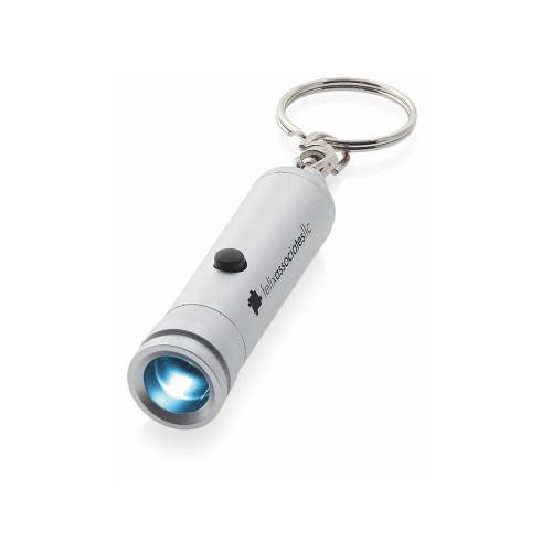 Брелок-фонарик Antares, серебристый