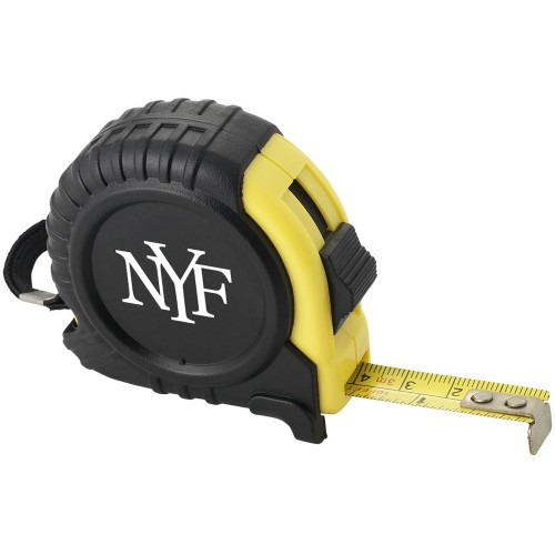 Рулетка с фиксатором и клипсой для ремня, 3 м.