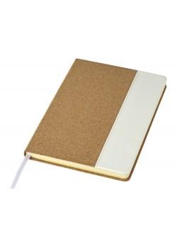 Блокнот Cork А5, коричневый/белый