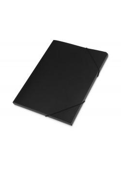 Папка формата А4 с резинкой, черный