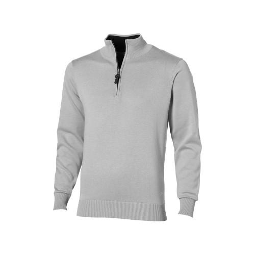 Пуловер Set с застежкой на четверть длины, серый/черный