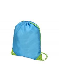 Рюкзак- мешок Clobber, голубой/зеленое яблоко