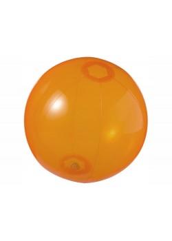 Мяч пляжный Ibiza, оранжевый прозрачный