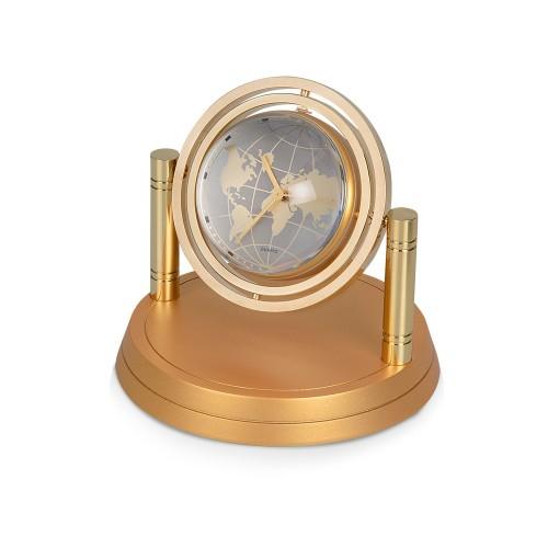 Часы Карта мира, золотистый