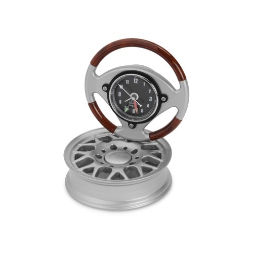 Часы настольные Колесо, серебристый