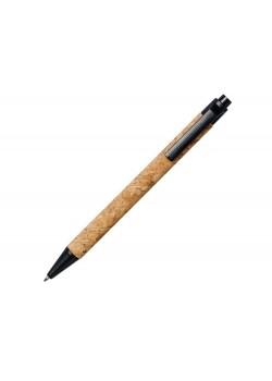 Шариковая ручка Midar из пробки и пшеничной соломы, черный