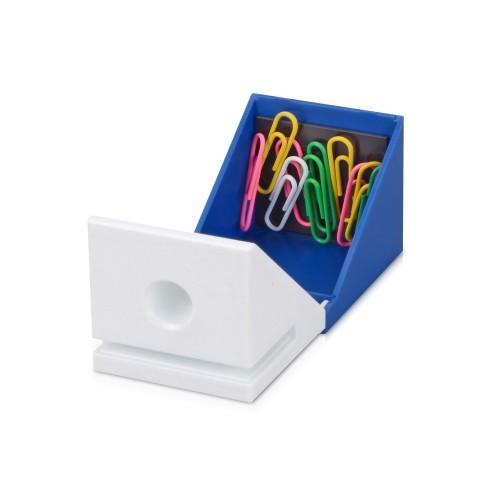Подставка для визиток, ручки и скрепок Куб, синий