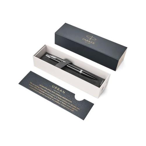 Ручка шариковая Parker Urban Core Black Cab CT, черный/серебристый
