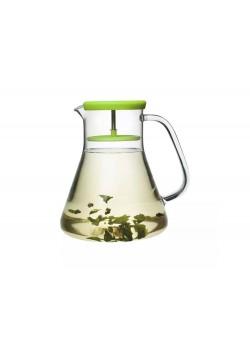 Чайник стеклянный Dancing Leaf, 1,2 л, зеленый