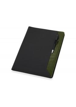 Папка для документов Nadine, черный/зеленый