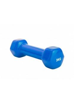 Гантель обрезиненная Magneto 3 кг, синий