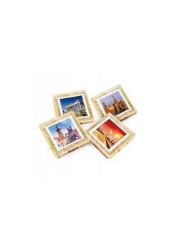 Шоколад коллекционный 1000х5г «Города Мира» горький золото
