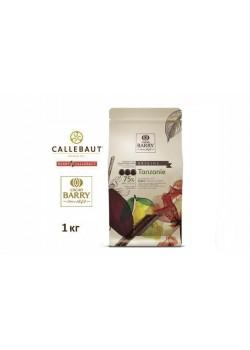 Barry Callebaut - Горький шоколад 75% какао TANZANIA CHD-Q75TAZ-2B-U73 1кг в коробке по 6шт.