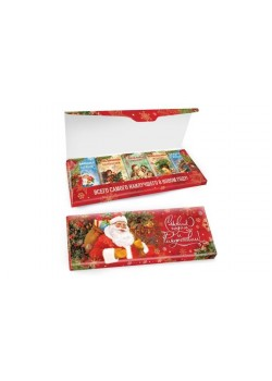 Новогодний шоколадный набор «Ретро» 135г из 5 шоколадок 27г молочный