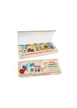 Новогодний шоколадный набор «Сладкое письмо» 135г из 5 шоколадок 27г молочный