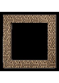 Деревянный магнит Квадраты 60×60 мм