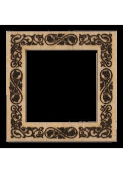 Деревянный магнит Узоры 62×62 мм
